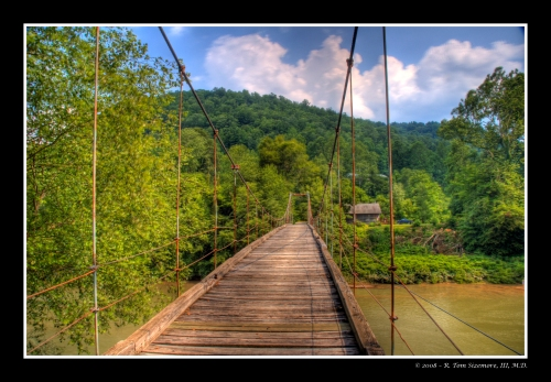 Elkhurst Swinging Bridge on Elk River